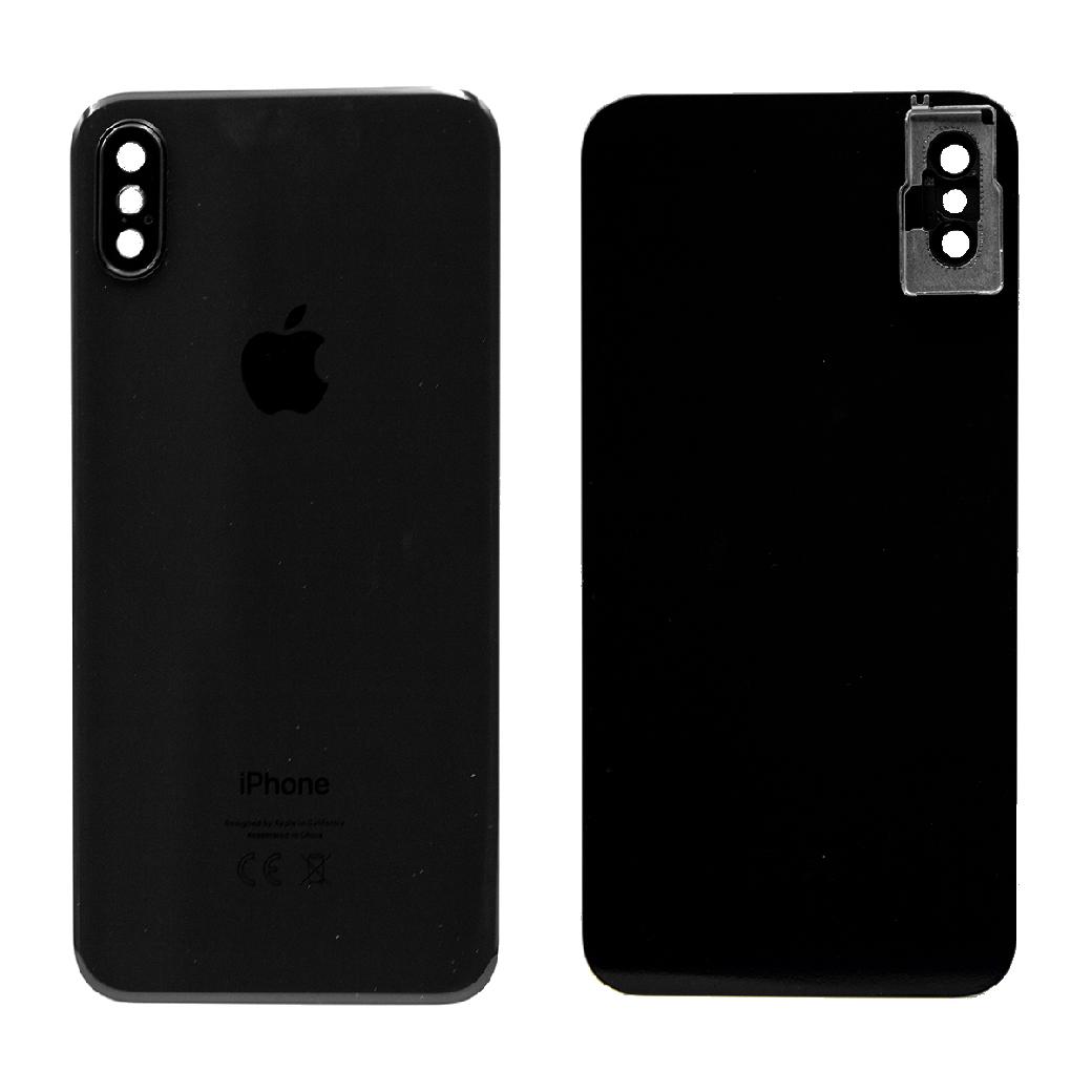 Apple İphone X Arka Kapak Kamera Camlı Siyah