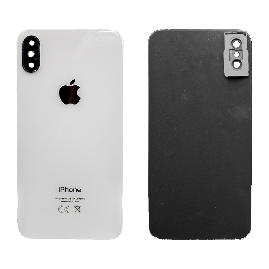 Apple İphone X Arka Kapak Kamera Camlı Beyaz