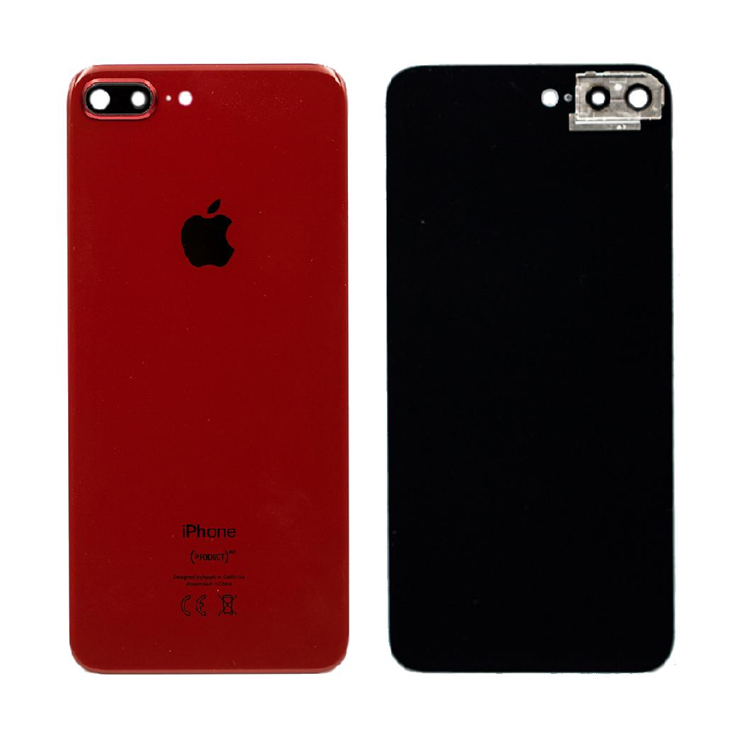 Apple İphone 8 Plus Arka Kapak Kamera Camlı Kırmızı