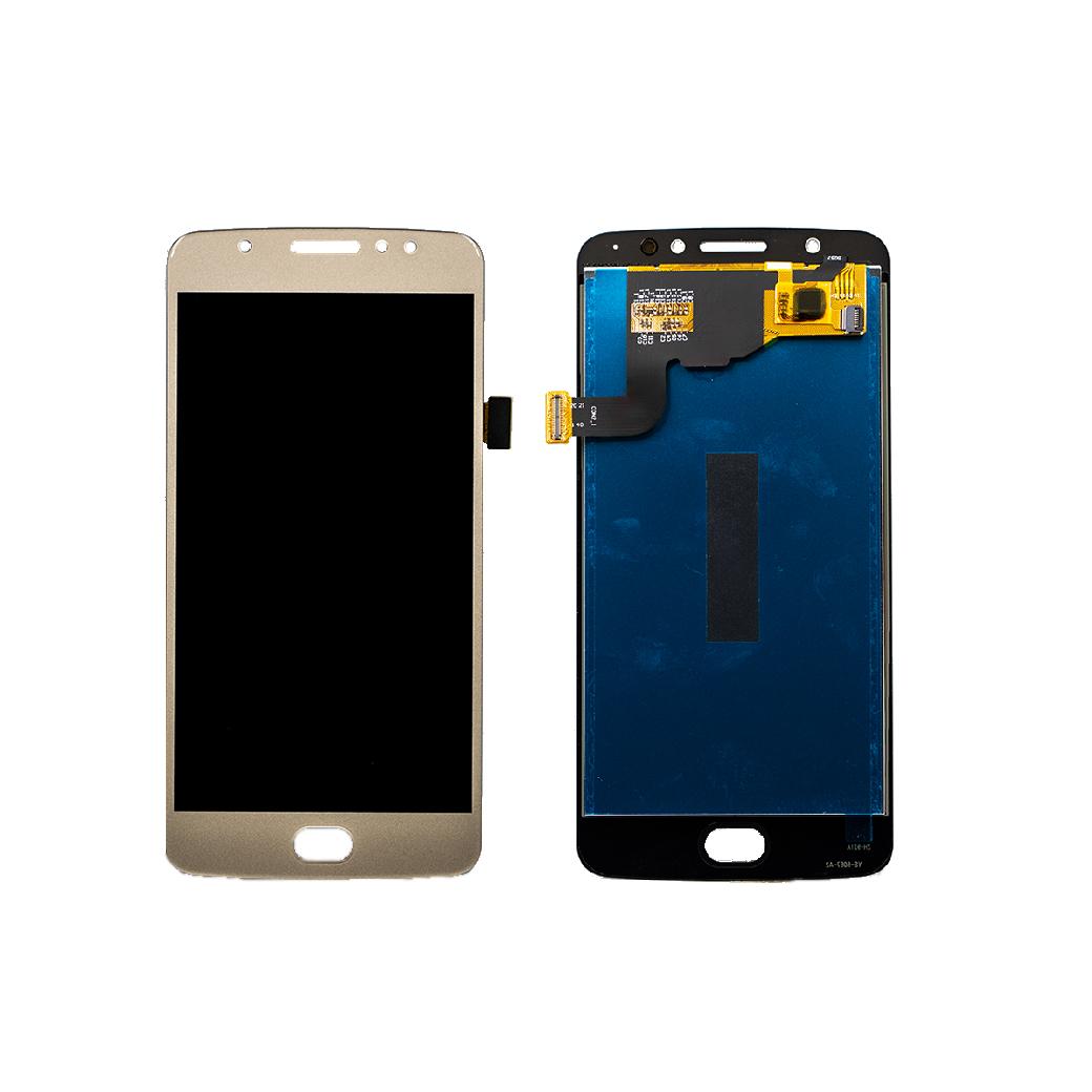 Lenovo Motorola Moto G5 Lcd Ekran Çıtasız Gold Altın