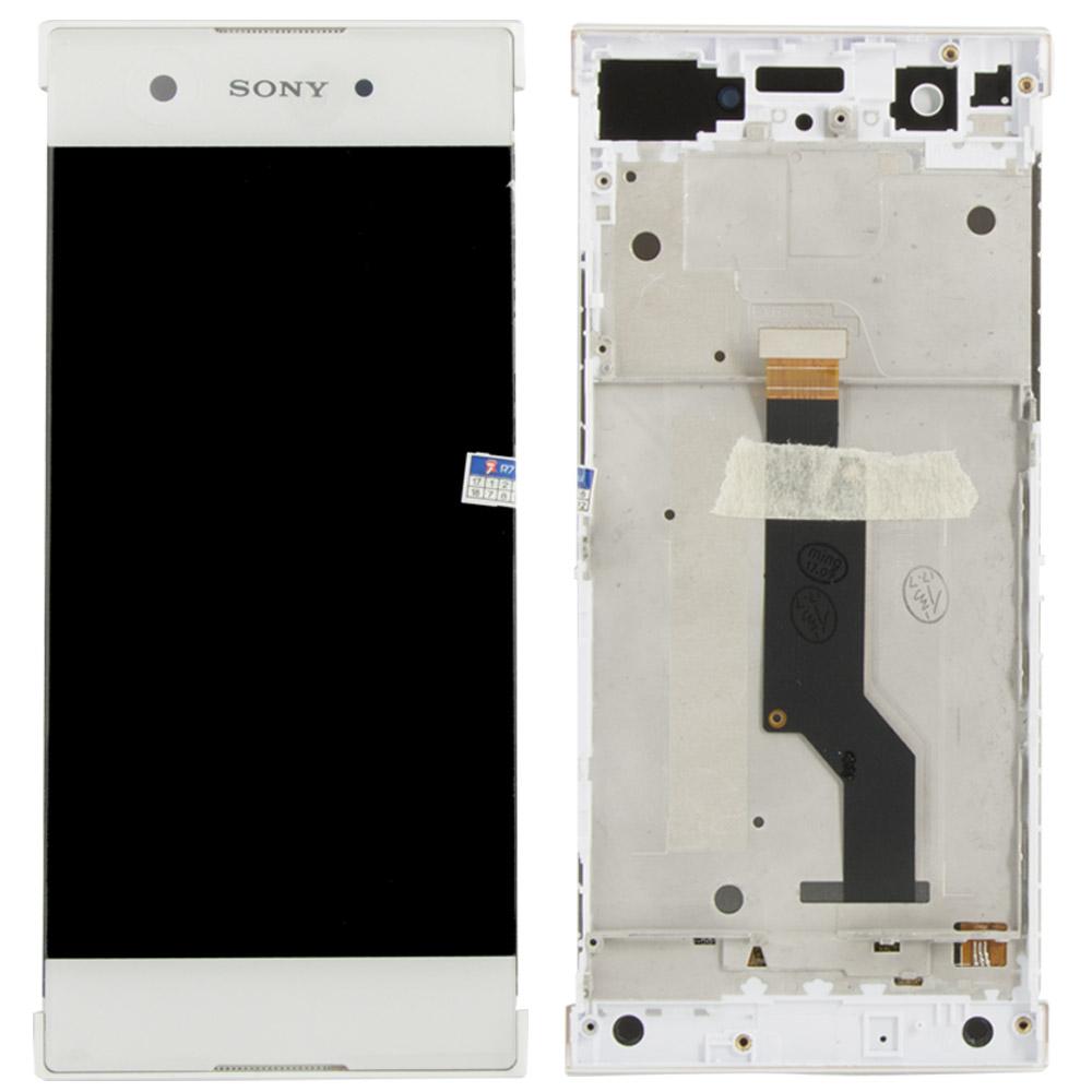 Sony Xperia Xa1 Lcd Ekran Çıtalı Beyaz