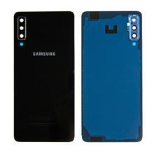 Samsung A7 2018 A750 Arka Kapak Kamera Camlı Siyah