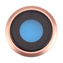 Apple İphone 8 Kamera Camı Rose Gold Pembe (Çerçeveli)