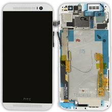 Htc One M8 Lcd Ekran Çıtalı Beyaz