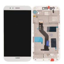 Huawei G8 Lcd Ekran Çıtalı Beyaz