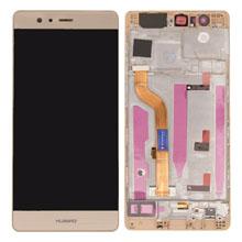 Huawei P9 Lcd Ekran Çıtalı Gold Altın