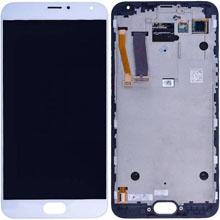 Meizu Mx5 Lcd Ekran Çıtasız Beyaz