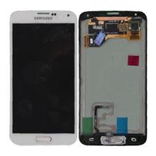 Samsung G900 S5 Lcd Ekran Revizyon Orijinal Beyaz