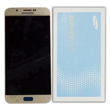 Samsung A800 A8 Lcd Ekran Servis Gold Altın