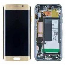 Samsung G935 S7 Edge Lcd Ekran Servis Rose Gold Pembe