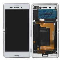 Sony Xperia E2303 Aqua M4 Lcd Ekran Çıtalı Beyaz