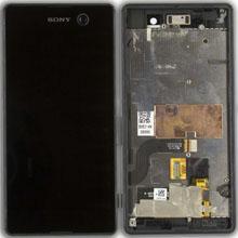 Sony Xperia M5 Lcd Ekran Çıtalı Siyah