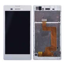Sony Xperia T3 Lcd Ekran Çıtalı Beyaz