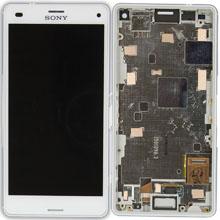 Sony Xperia Z1 Mini Lcd Ekran Çıtalı Beyaz